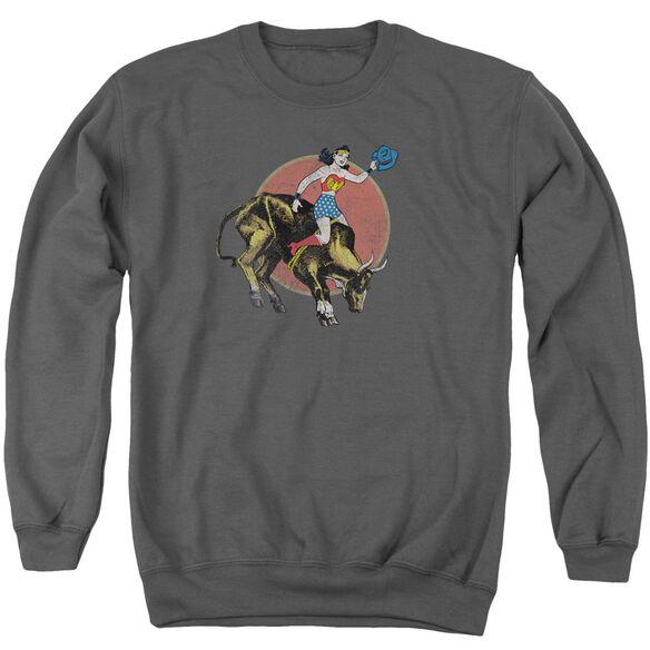 Jla Bull Rider Adult Crewneck Sweatshirt