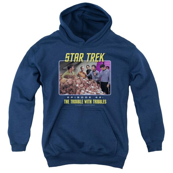 St:Original The Trouble With Tribbles Youth Pull Over Hoodie