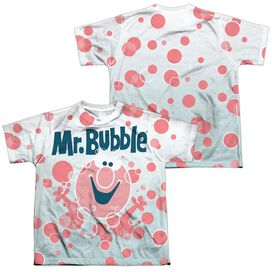 Mr Bubble Clean Sweep (Front Back Print) Short Sleeve Youth Poly Crew T-Shirt