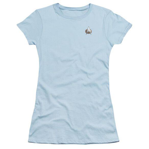 Star Trek Tng Science Emblem Short Sleeve Junior Sheer T-Shirt