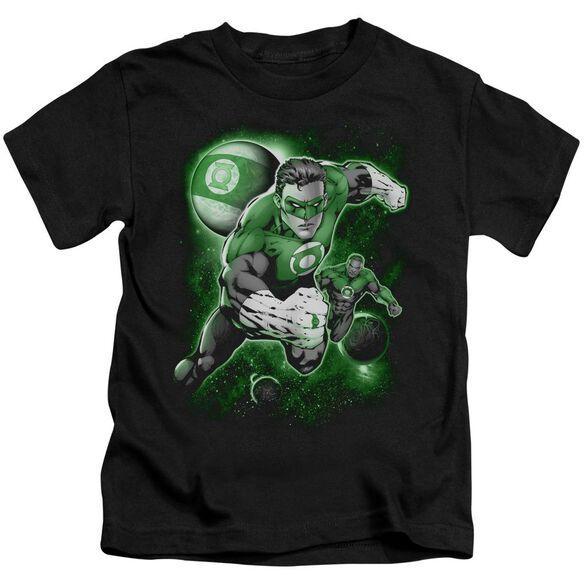 Green Lantern Lantern Planet Short Sleeve Juvenile Black Md T-Shirt