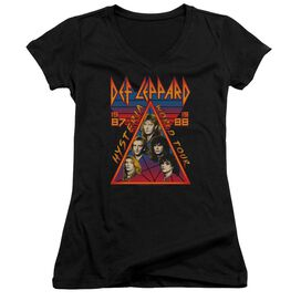 Def Leppard Hysteria Tour Junior V Neck T-Shirt