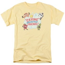 Steven Universe Crying Breakfast Friends Short Sleeve Adult Banana T-Shirt