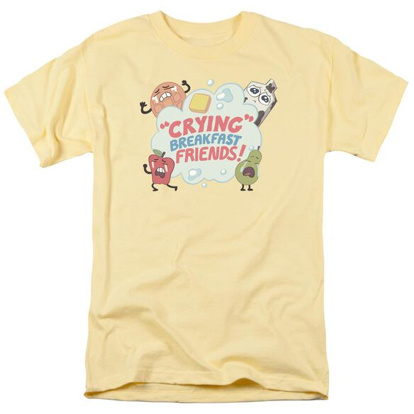 Steven Universe Crying Breakfast Friends Short Sleeve Adult Banana T-Shirt