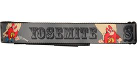 Looney Tunes Yosemite Sam Name Gray Seatbelt Mesh Belt
