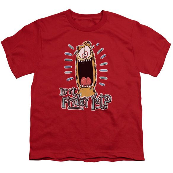 GARFIELD FRIDAY - S/S YOUTH 18/1 - RED T-Shirt
