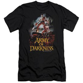 Army Of Darkness Bloody Poster Premuim Canvas Adult Slim Fit