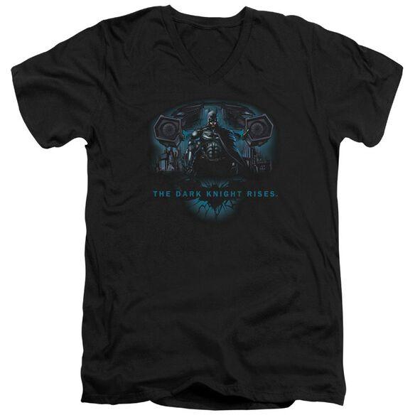 Dark Knight Rises Gothams Dark Knight Short Sleeve Adult V Neck T-Shirt