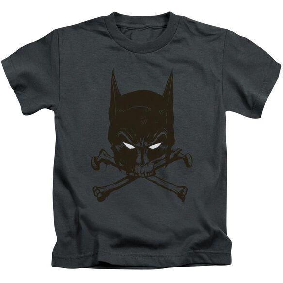 Batman Bat And Bones Short Sleeve Juvenile Charcoal T-Shirt