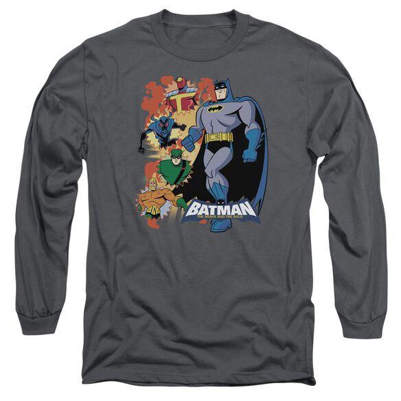 Batman Bb Batman & Friends Long Sleeve Adult T-Shirt