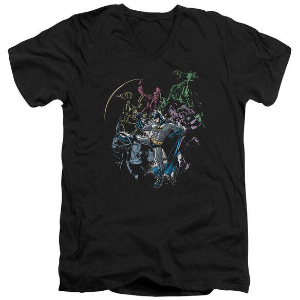 Batman Surrounded Short Sleeve Adult V Neck T-Shirt