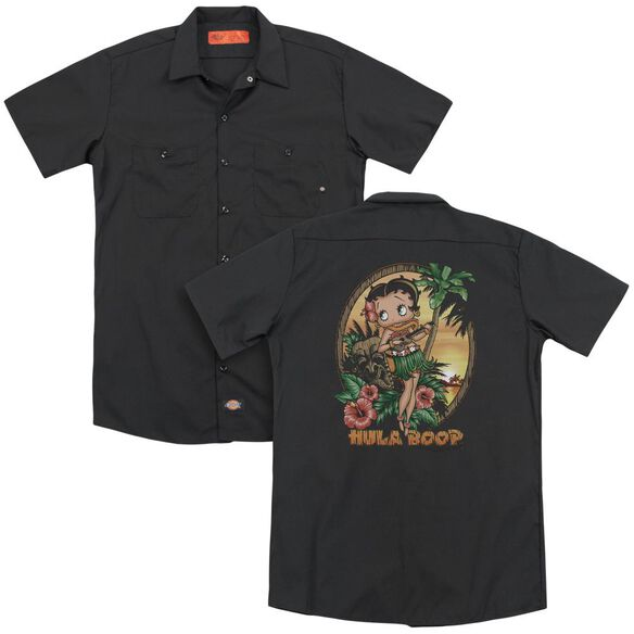 Betty Boop Hula Boop Ii (Back Print) Adult Work Shirt