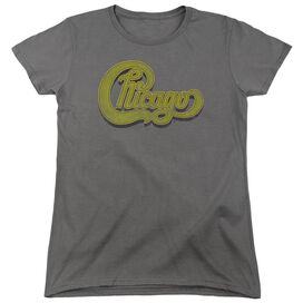 Chicago Distressed Short Sleeve Womens Tee T-Shirt