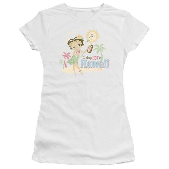 Betty Boop Hot In Hawaii Short Sleeve Junior Sheer T-Shirt