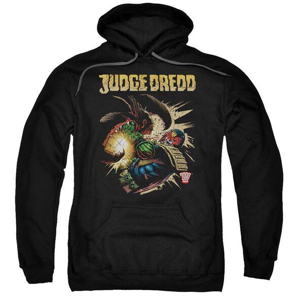 Judge Dredd Blast Away Adult Pull Over Hoodie