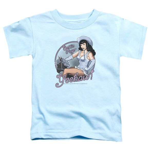 Bettie Page Cowgirl Short Sleeve Toddler Tee Light Blue Md T-Shirt