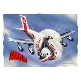 Airplane Postet Pillow Case White