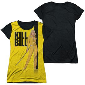 Kill Bill Poster Short Sleeve Junior Poly Black Back T-Shirt
