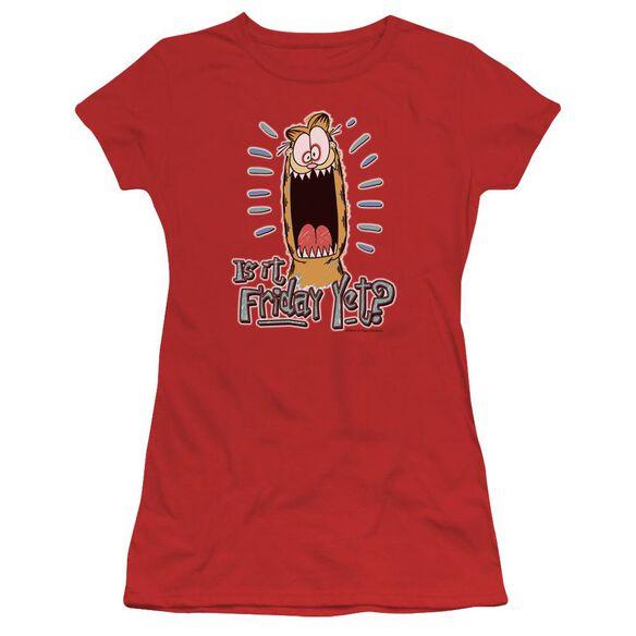 Garfield Friday Short Sleeve Junior Sheer T-Shirt