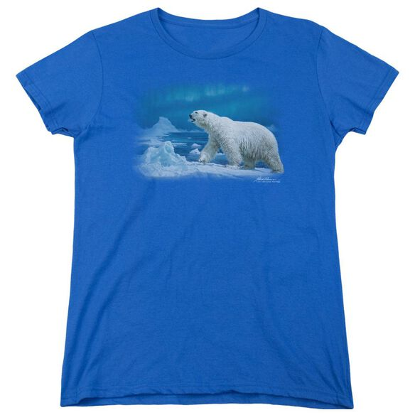Wildlife Nomad Of The North Short Sleeve Womens Tee Royal T-Shirt