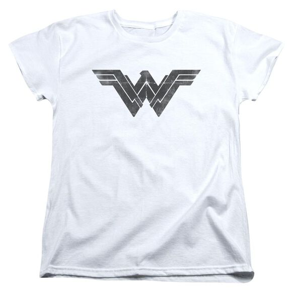 Batman V Superman Folded And Distressed Short Sleeve Womens Tee T-Shirt