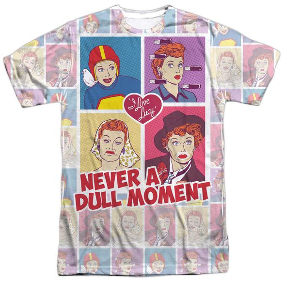 I Love Lucy All Over Panels Short Sleeve Adult Poly Crew T-Shirt
