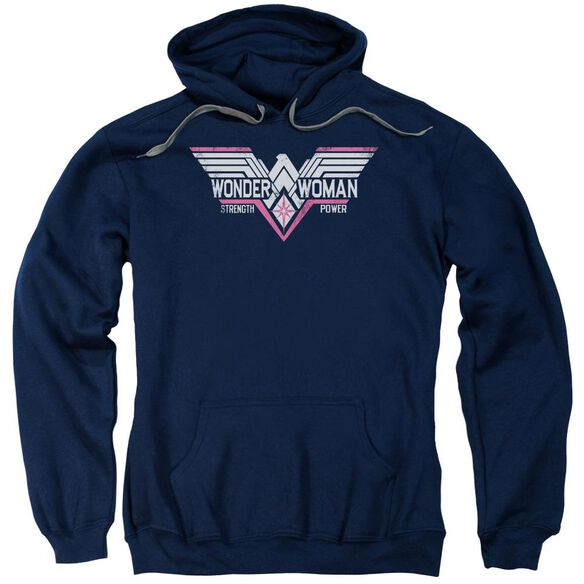 Batman V Superman Thunder Logo Adult Pull Over Hoodie