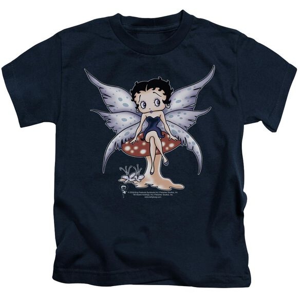 Betty Boop Mushroom Fairy Short Sleeve Juvenile Navy Md T-Shirt