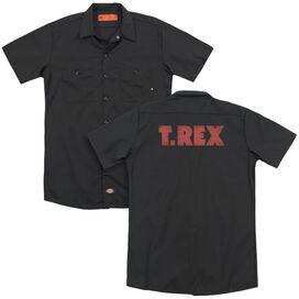 T Rex Logo(Back Print) Adult Work Shirt