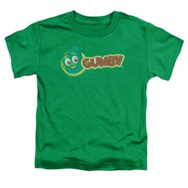 Gumby Logo Short Sleeve Toddler Tee Kelly Green Md T-Shirt