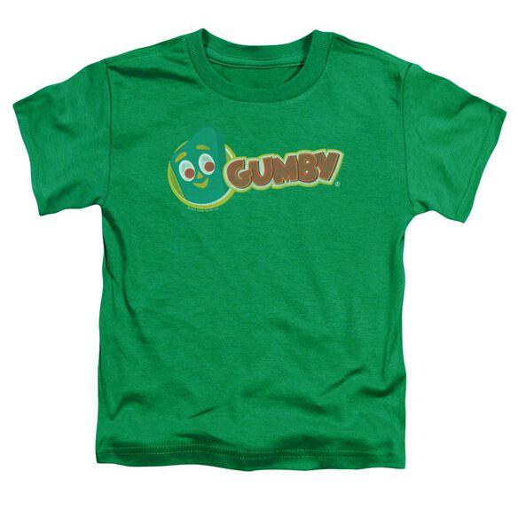 Gumby Logo Short Sleeve Toddler Tee Kelly Green Md T-Shirt