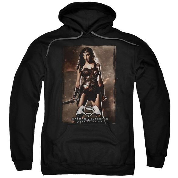 Batman V Superman Ww Poster Adult Pull Over Hoodie