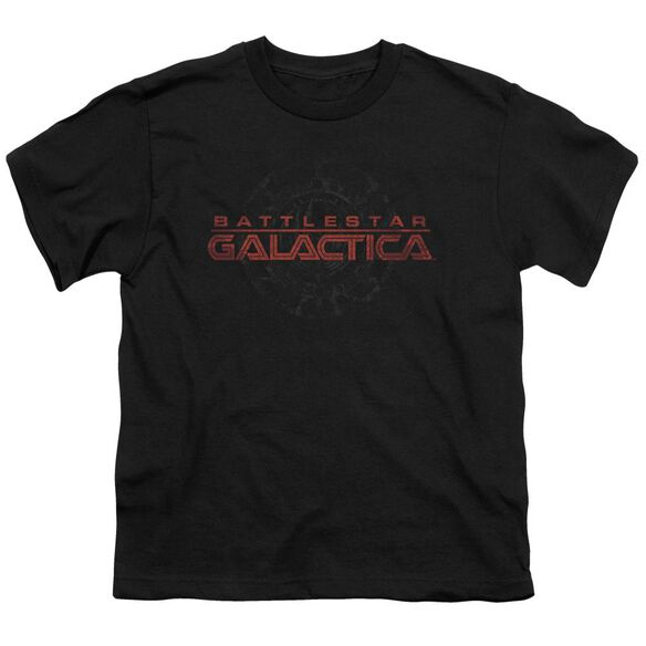 BSG BATTERED LOGO - S/S YOUTH 18/1 - BLACK T-Shirt