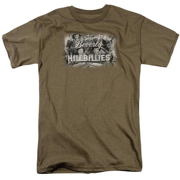 Beverly Hillbillies Logo Short Sleeve Adult Safari Green T-Shirt