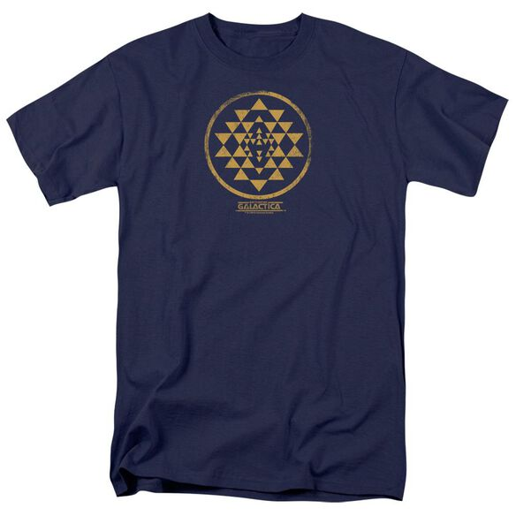 Bsg Gold Squadron Patch Short Sleeve Adult Navy T-Shirt