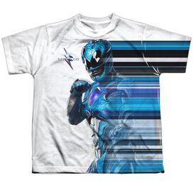 Power Rangers Blue Streak Short Sleeve Youth Poly Crew T-Shirt