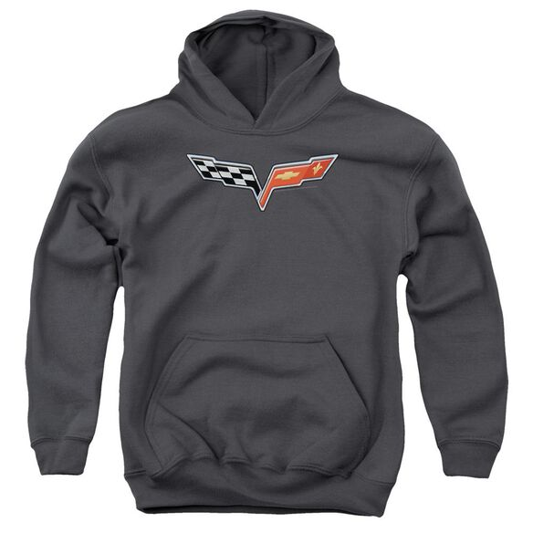 Chevrolet The Vette Medallion Youth Pull Over Hoodie
