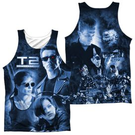 Terminator Ii Protector And Hunter (Front Back Print) Adult 100% Poly Tank Top
