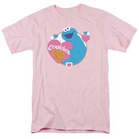 Sesame Street Love Cookies Short Sleeve Adult T-Shirt