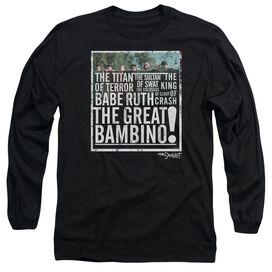 Sandlot The Great Bambino Long Sleeve Adult T-Shirt