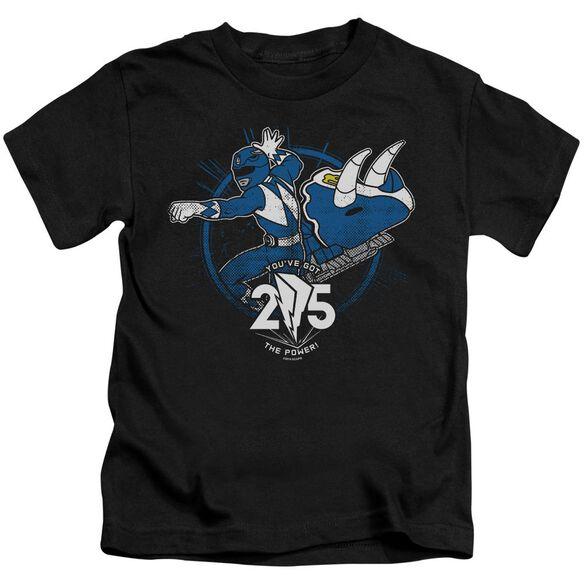 Power Rangers Blue 25 Short Sleeve Juvenile T-Shirt