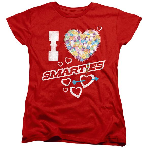 SMARTIES I HEART SMARTIES - S/S WOMENS TEE - RED T-Shirt