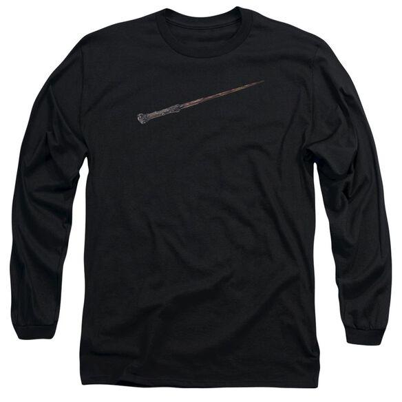 Harry Potter Harrys Wand Long Sleeve Adult T-Shirt