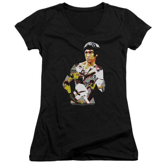 Bruce Lee Body Of Action Junior V Neck T-Shirt