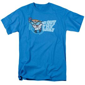 Dexter's Laboratory Get Out Short Sleeve Adult Turquoise T-Shirt
