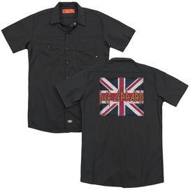 Def Leppard Union Jack(Back Print) Adult Work Shirt