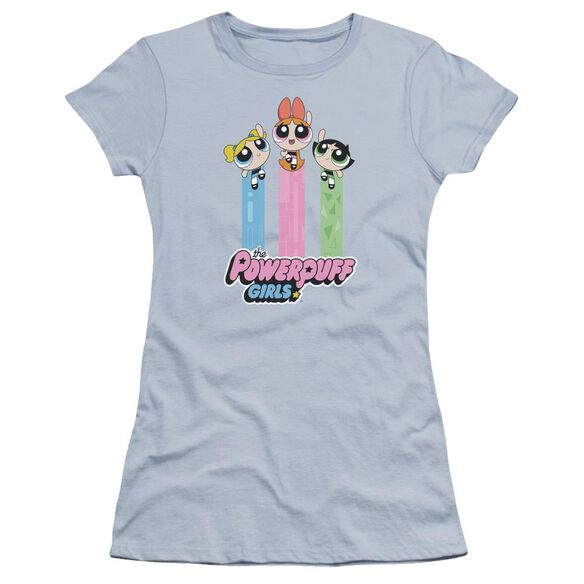 Powerpuff Girls The Girls Fly Hbo Short Sleeve Junior Sheer Light T-Shirt