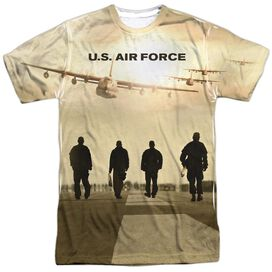 Air Force Long Walk Short Sleeve Adult Poly Crew T-Shirt