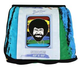 Bob Ross Fleece Blanket
