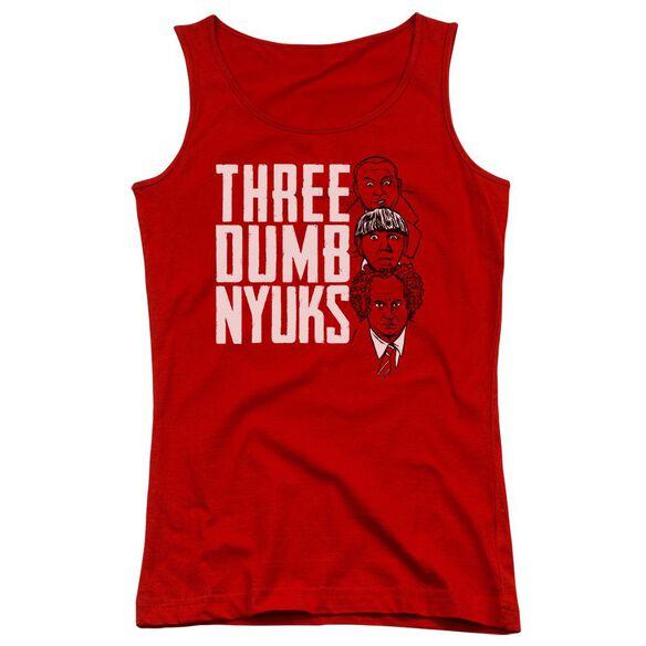 Three Stooges Three Dumb Nyuks Juniors Tank Top